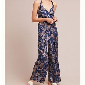 NWOT Anthropologie Paisley floral jumpsuit